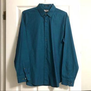EXPRESS Blue 1MX Modern Fit Button Down Shirt